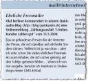 In der Internet World Busines Ausgabe vom 26. Mai 2008 wird QuickAudio aus dem Blog zitiert.